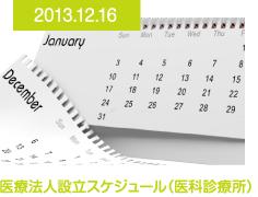 2013.12.16 医療法人設立スケジュール(医科診療所)